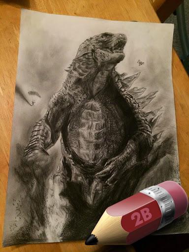 Sketch A Godzilla