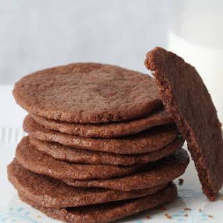Crispy Chocolate Keto Cookies.