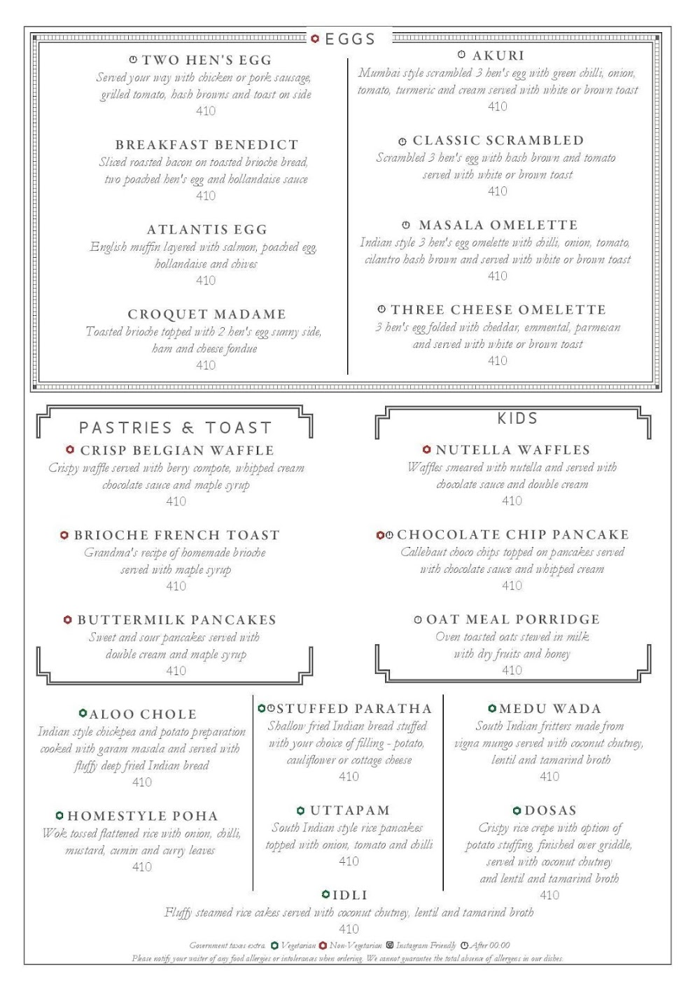 Long & Short - InterContinental menu 4