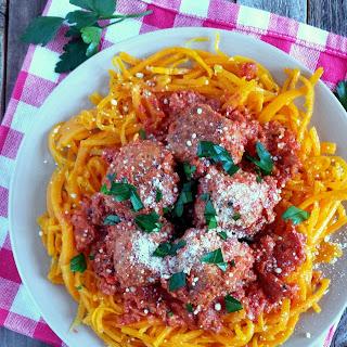 Spicy Turkey Meatballs & Butternut Squash Noodles