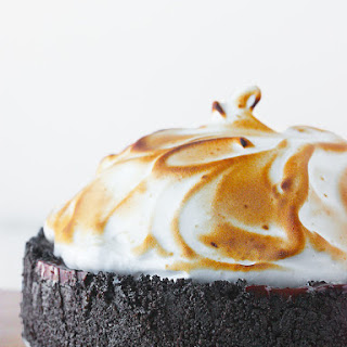No Bake Chocolate Creme Pie with Swirly Meringue