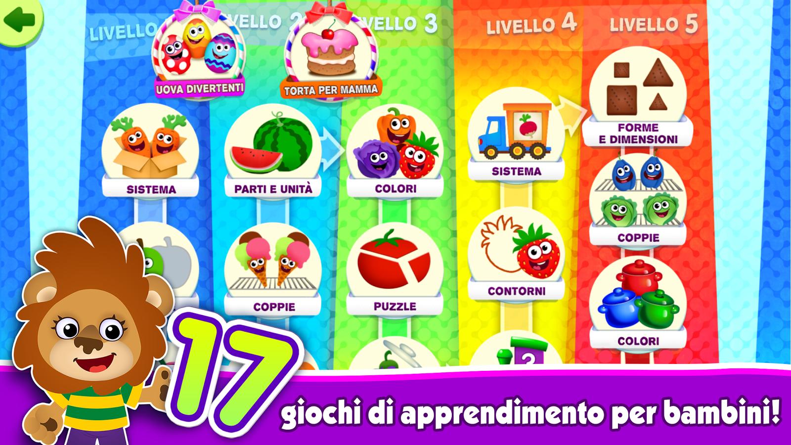 Giochi educativi per bambini apps bimbi 2 3 4 anni app for Giochi per bambini di 2 anni