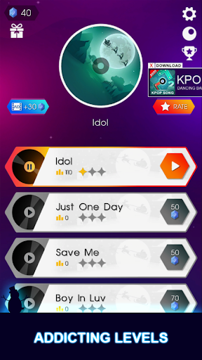 BTS Hop: KPOP IDOL Rush Dancing Tiles Game 2019! screenshot 8