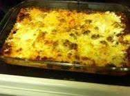 Comfort Food! Sausage Cheese Lasagna
