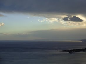 Photo: Storm brews over Gulf of Naxos