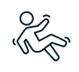 line drawing of person struggling