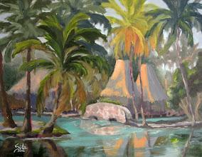 """Photo: """"Little Stone Bridge"""" - Kona Village - 18"""" x 14"""" (available from artist)"""