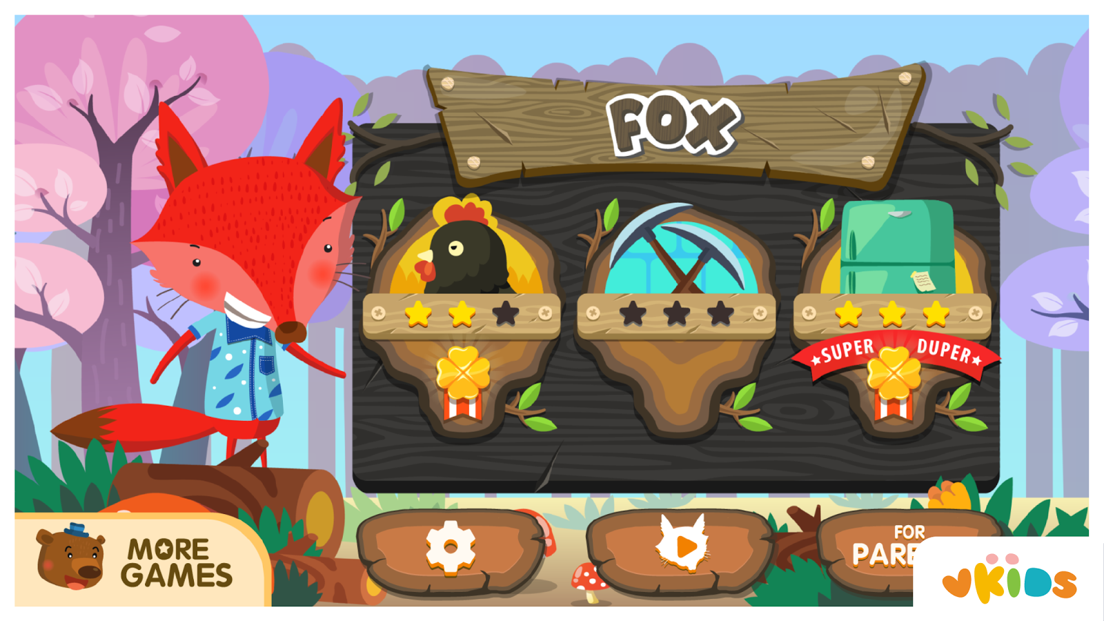 Kids Animal Game - The Fox- screenshot