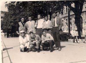 Photo: 1960 u Rijeci Stoje s lijeva:____, Bezmarević, Franjo, Milić, Vančas; Čuće: Pavlić Ivo, Bianchi Bruno, Rovis Franko