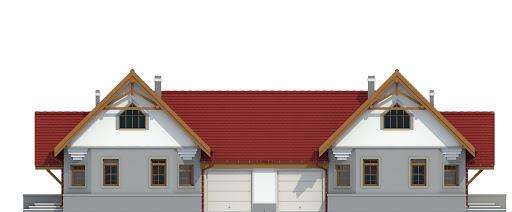 Lolek II z garażem 1-st. bliźniak A-BL1 - Elewacja przednia