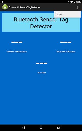 Bluetooth Sensor Tag Detector