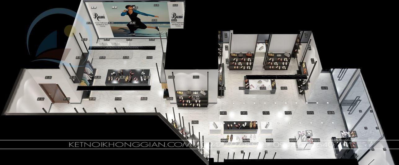 thiết kế cửa hàng giày dép 1