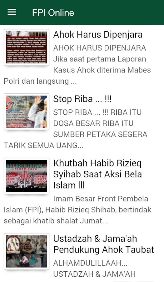 FPI Online- screenshot