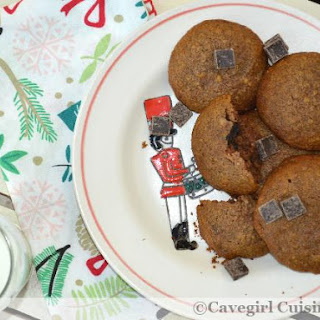 Paleo Gingerbread Chocolate Chip Cookies