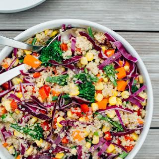 Rainbow Quinoa Salad with Tahini Ginger Dressing Recipe