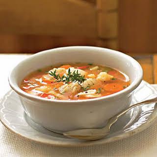 Tomato-Based White Wine Fish Soup.