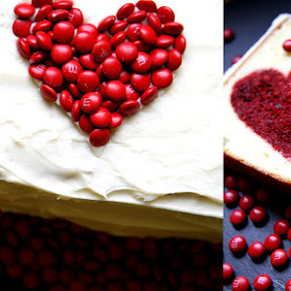 Heart Inside Valentine's Day Cake.