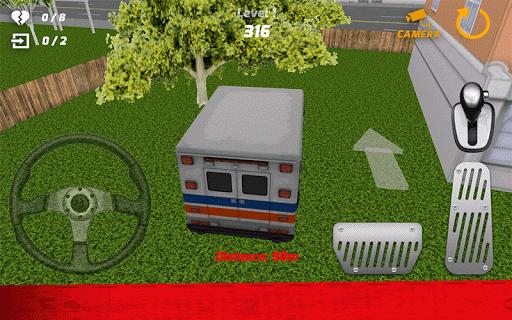 救急車のドライバーシミュレーター3D