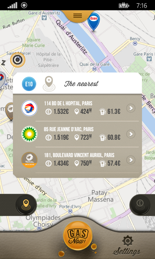 Gas Now - Prices comparator- screenshot