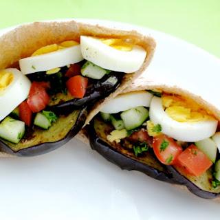 Sabich Eggplant Sandwich