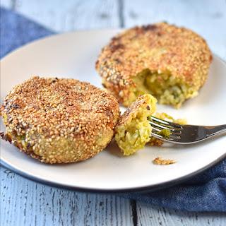 Sesame Crusted Cabbage and Potato Cakes Recipe