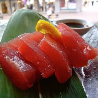 Marinated Tuna Sashimi.