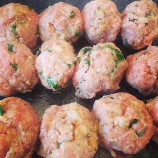 """Best"" Oven Baked Turkey Meatballs."