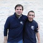 Pierre et Frédéric Marathon Cognac 2015 profit L'Arche