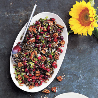 Wild Rice Salad with Cranberries and Pecans