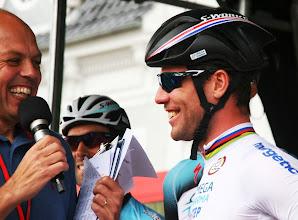Photo: Mark Cavendish fortæller Peter Piil om, hvad han har lavet siden Tour de France
