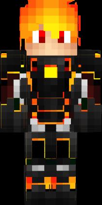 Minecraft Wallpaper 3d Herobrine 3d Fire Boy Nova Skin