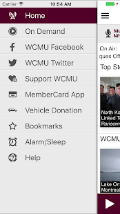 WCMU Public Media App- screenshot thumbnail