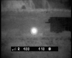 Photo: Прицел ПГО-7 установлен в поле на треноге на расстоянии 400-410 м.