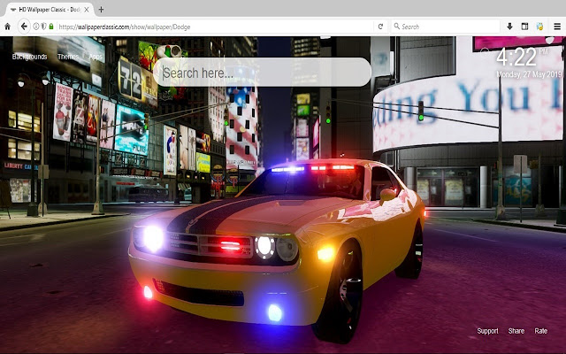 Dodge Wallpaper HD New Tab Themes