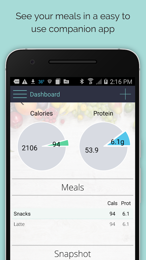 Cal & Lorie - Calorie Tracker- screenshot
