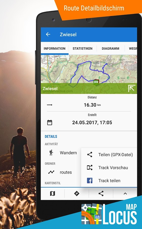 Locus Map Pro - Outdoor GPS Navigation und Karten – Screenshot