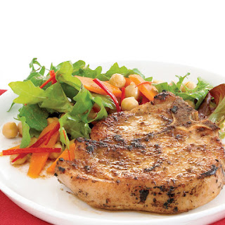 Pork Chops with Carrot Salad