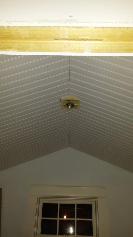 Ceiling of closet