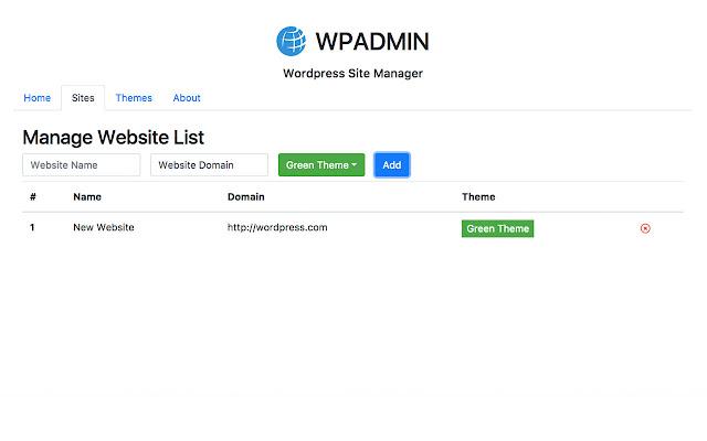 WPADMIN : Wordpress Site Manager