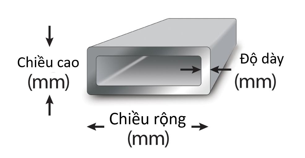 Kích thước tiết diện sẽ ảnh hưởng đến công năng của công trình sử dụng thép hộp