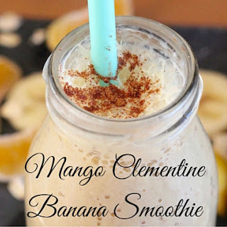 Mango Clementine Banana Smoothie.