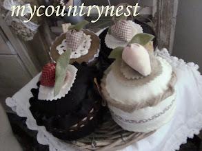 Photo: dolcetti feltro panna e cioccolato, decorativi