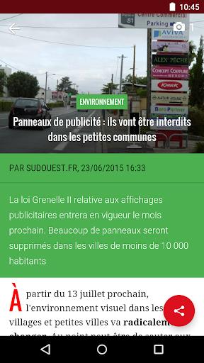玩免費新聞APP|下載Sud Ouest, l'actu en Aquitaine app不用錢|硬是要APP