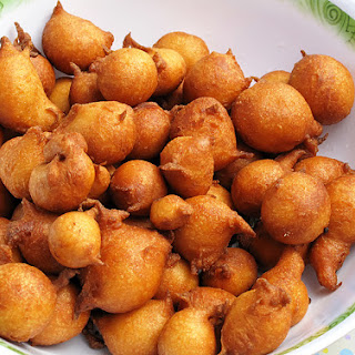 "Savoury doughnuts. Savoury Croatian doughnuts ""fritule""."