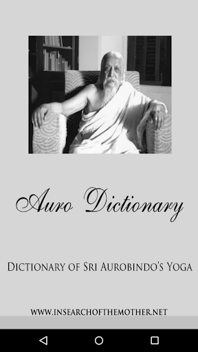 Auro Dictionary:Sri Aurobindo