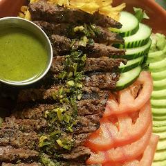 Casa salad w/churrasco steak