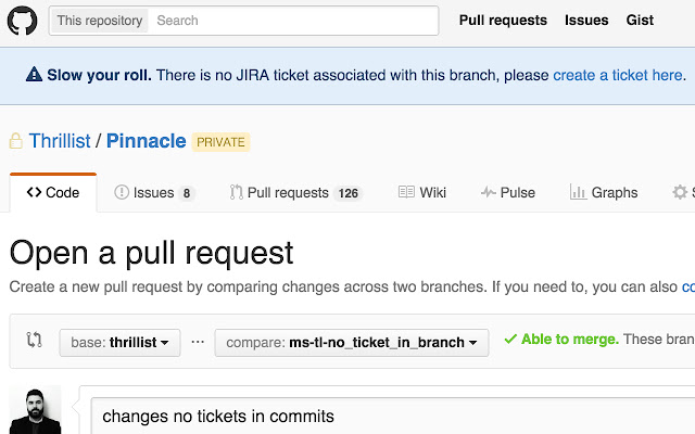 JIRA Tickets in Pull Requests