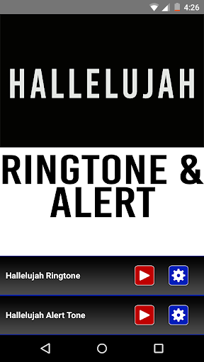 Hallelujah Ringtone and Alert