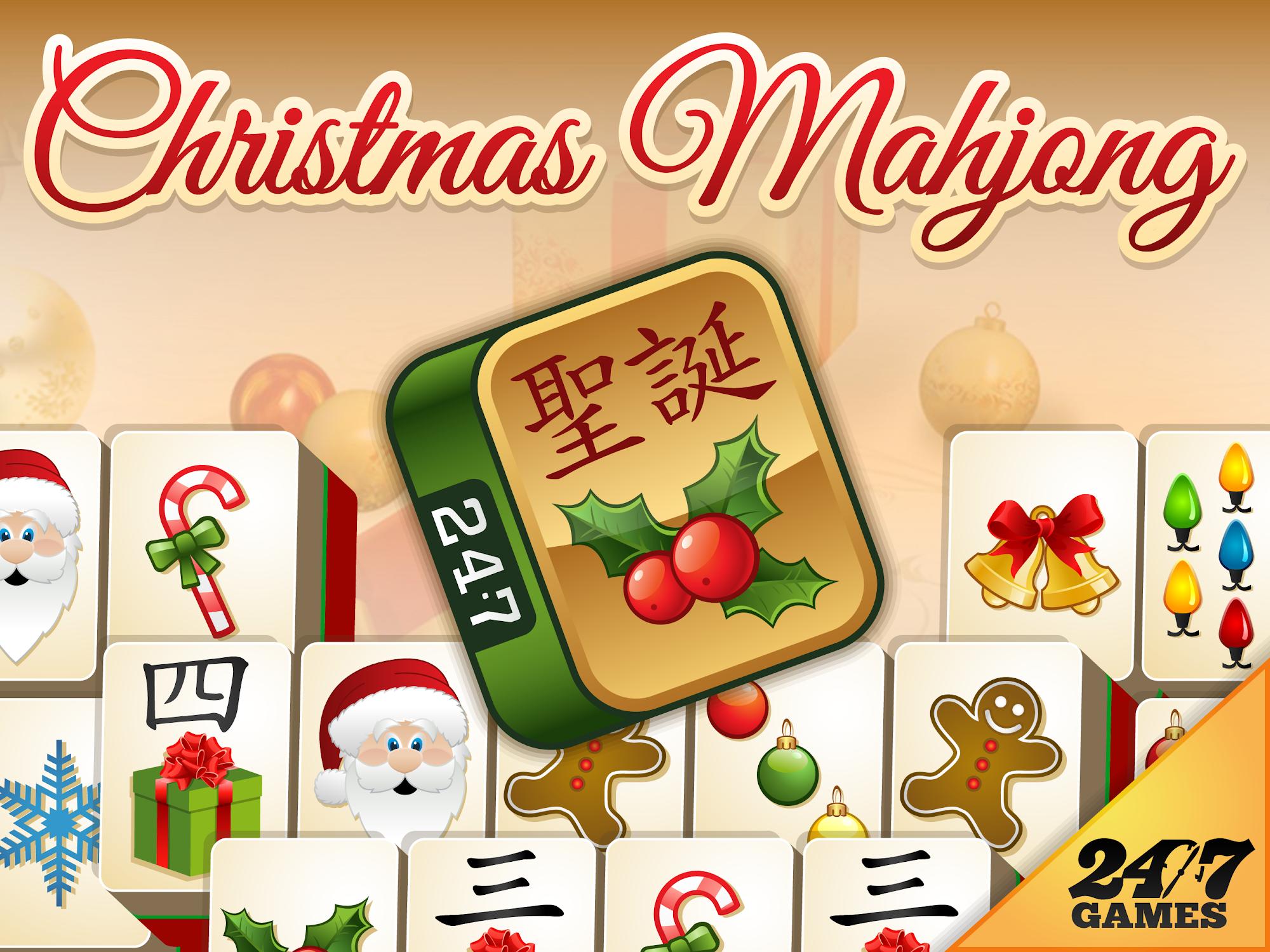 Mahjong Christmas.Christmas Mahjong