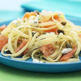Smoked Salmon and Dill Pasta.